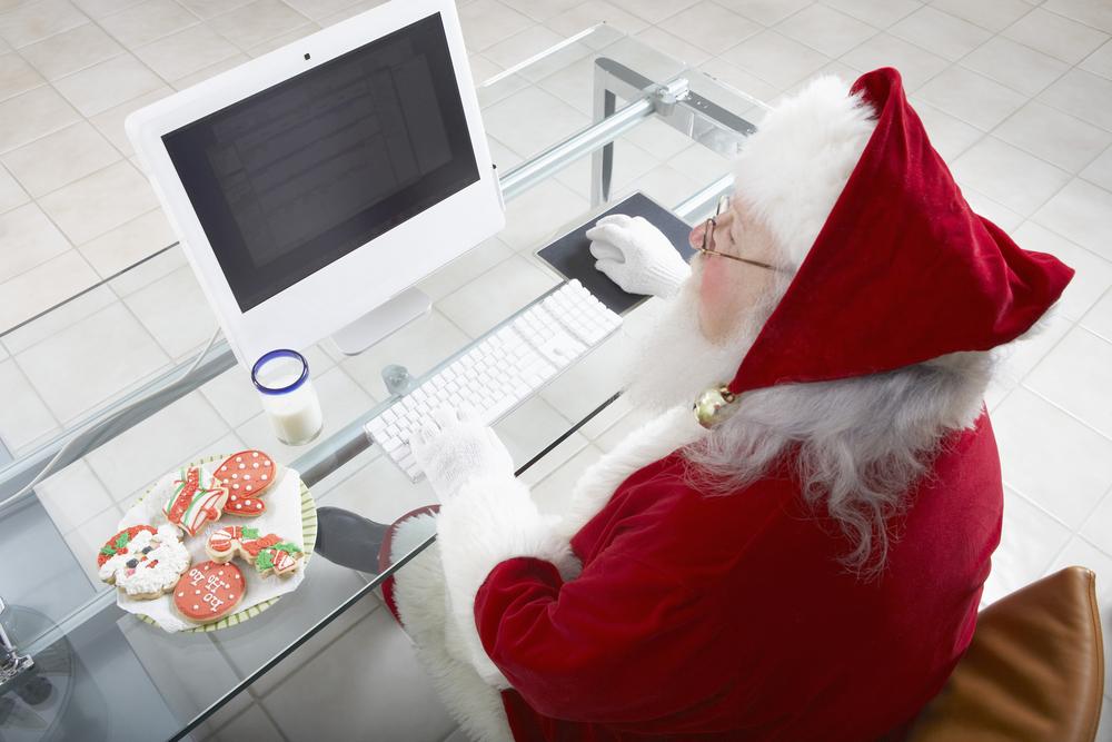 Закажите Деда Мороза и Снегурочку в офис.
